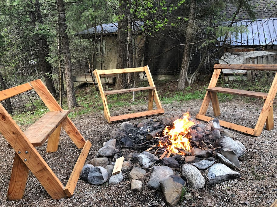 Enjoy an evening fire and some s'mores! Be sure to follow all burn bans and keep the hose close when burning.