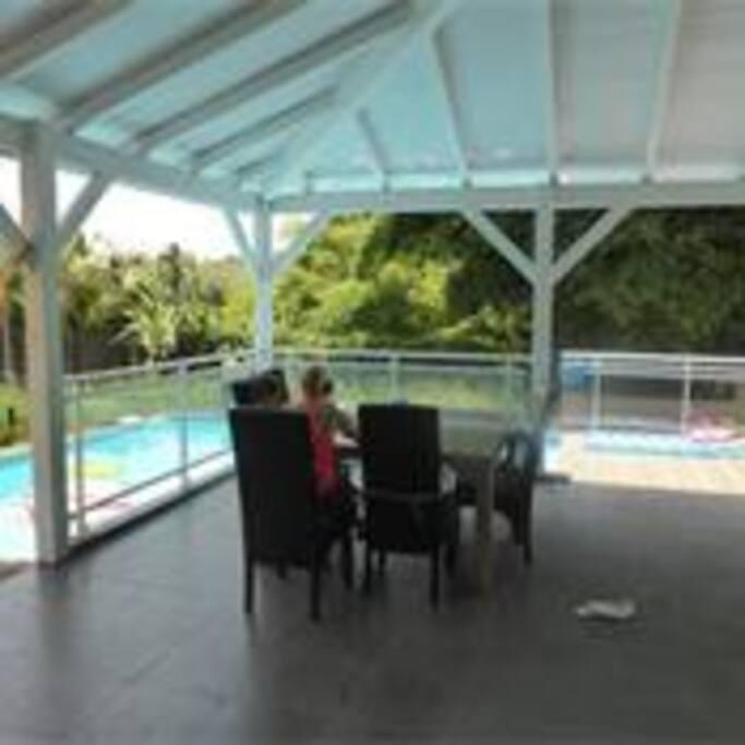 véranda sur piscine