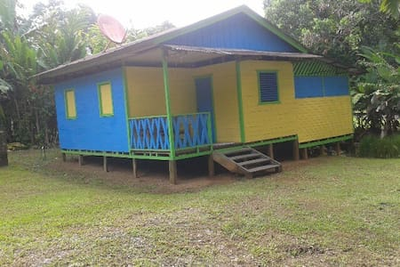 Airy wooden cabin on the Golfo Dulce near Corcovado Park.  2 small bedrooms, open kitchen, dining room on private lot with secure parking. Just steps from the water.  Great basecamp to explore the Golfo Dulce, Corcovado & Osa. Kayaks available 2 rent