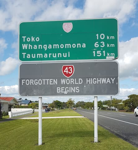 We are only 8 K's beyond Toko & 40 K's from to Whangamomona