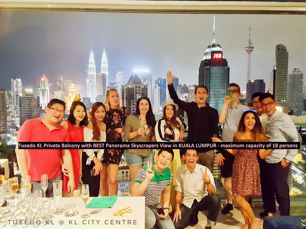 Location: Private Balcony of Tuxedo KL with Best of the Best City View of Kuala Lumpur. Best background for breathtaking party or event pictures!