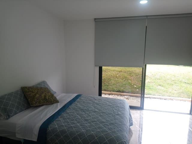Bedrooms all have big windows and beautiful views.
