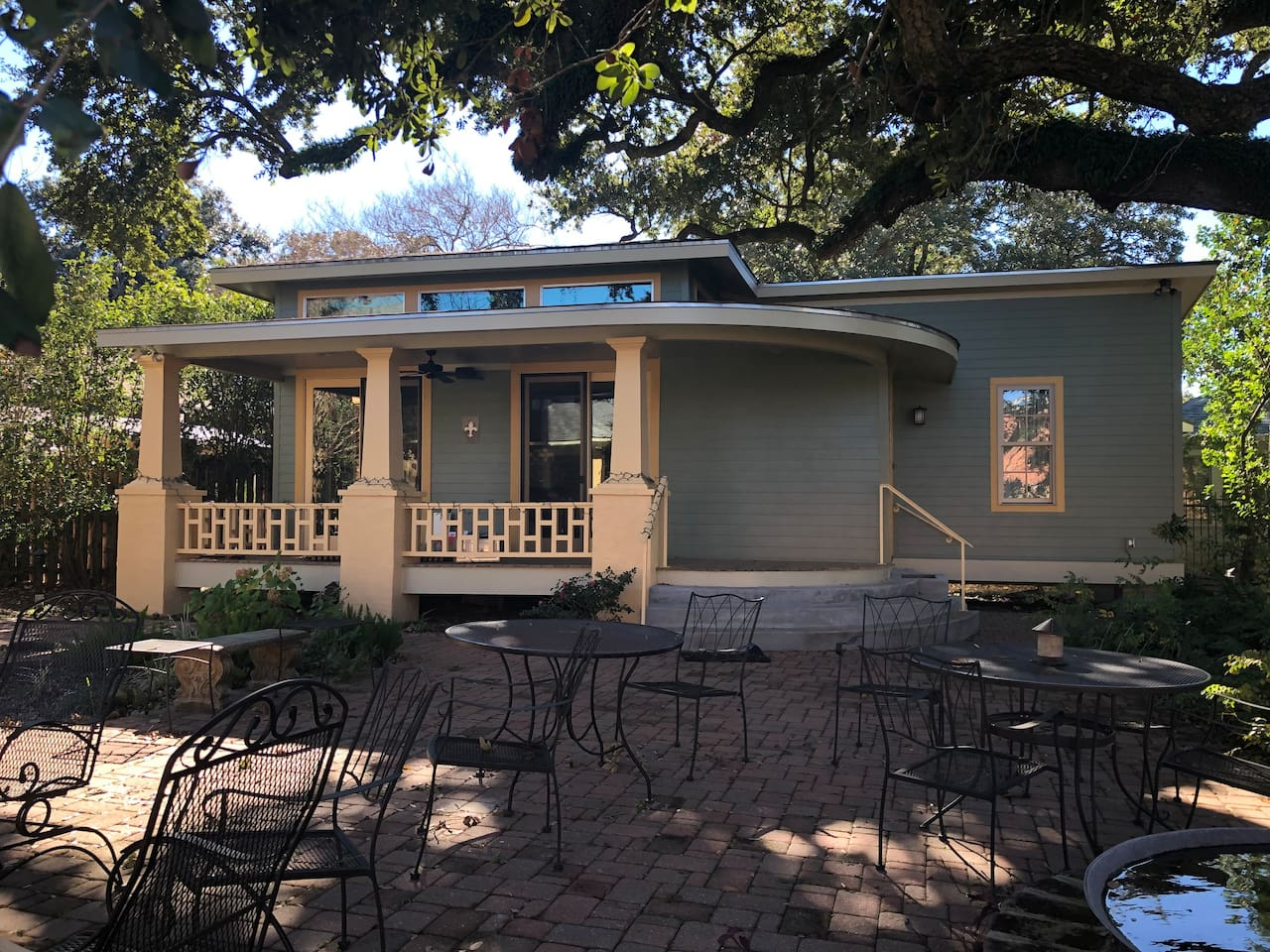 Beautiful, brand new suite set apart from main house under a large, 200+ year old oak tree in downtown Lafayette. Large porch, private drive, private entrance. Gated property w/ code for entry.