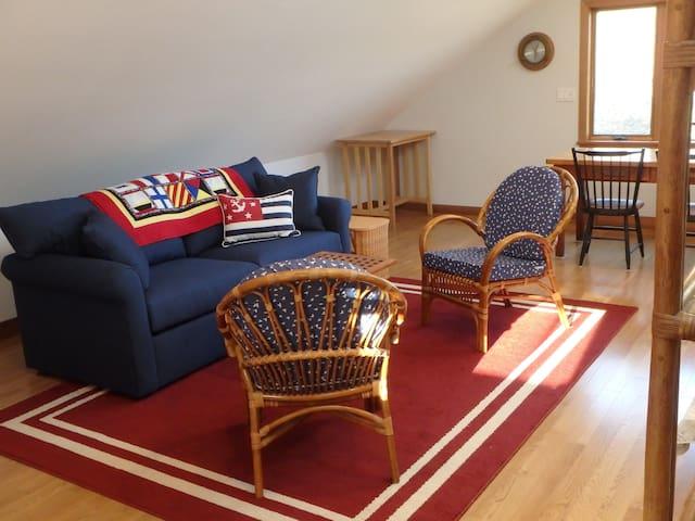 Sitting Area with Full-Size Sleeper Sofa