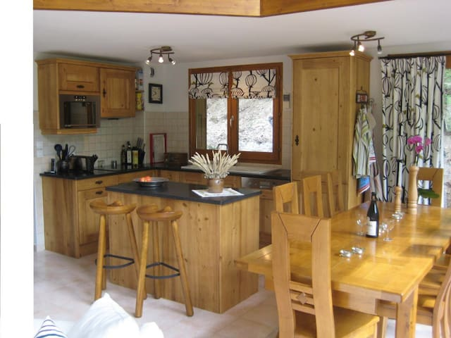 Rustic yet modern kitchen