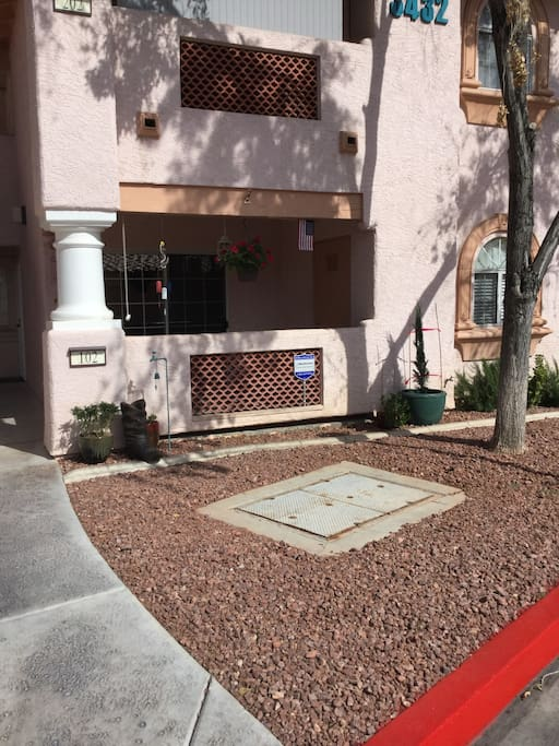Ground Floor Unit(Handicap Access) with Covered Patio