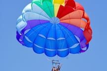 The discount card gives you discounts on parasailing.