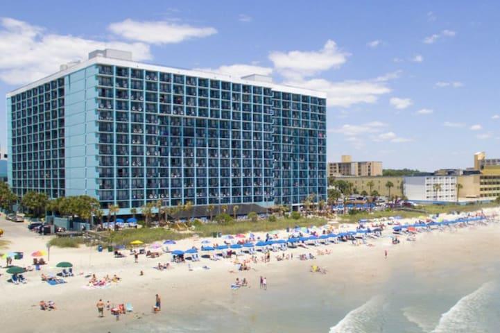 600 feet of oceanfront From the back of the landmark resort