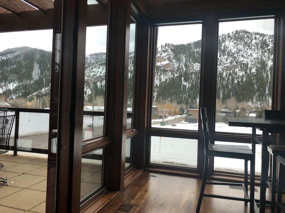Views from all bedrooms, living space and deck