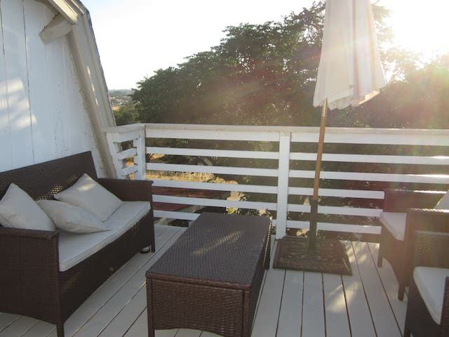 private deck with a view