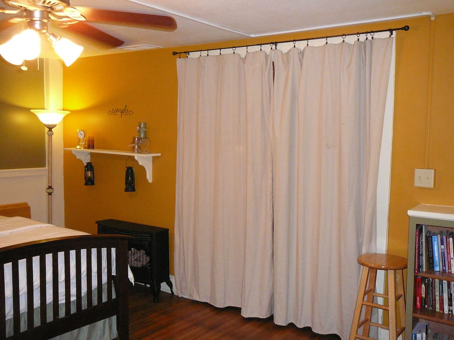 Curtains provide privacy in your cozy room