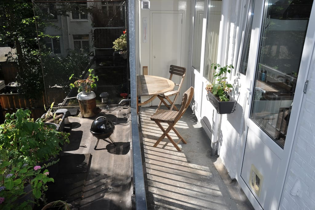 Table for two to enjoy the morning sun.