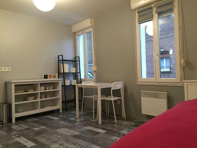 Studio lumineux à 2 pas de la gare - Amiens - Appartement