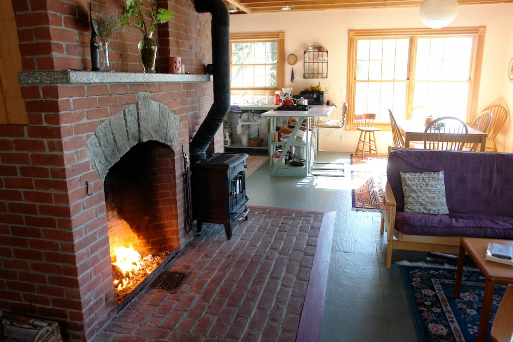 Cozy fireplace for cool evenings!