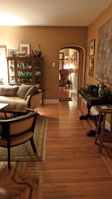 """View from the library through the """"Green Room"""" to the """"West Wing."""""""