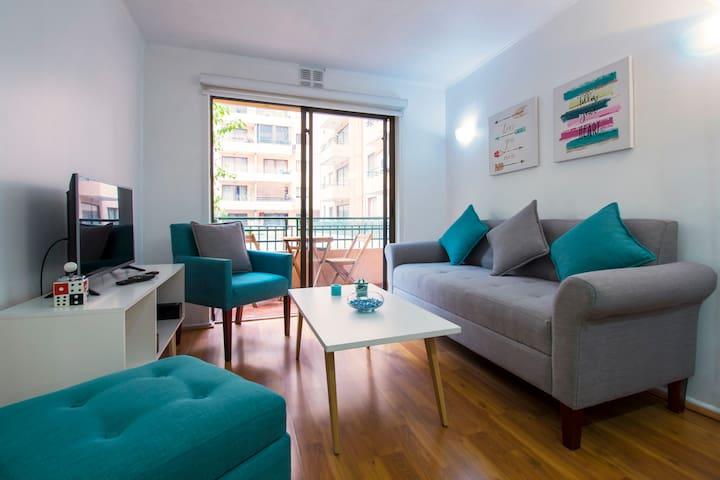 Encantador Apartamento para disfrutar Santiago!