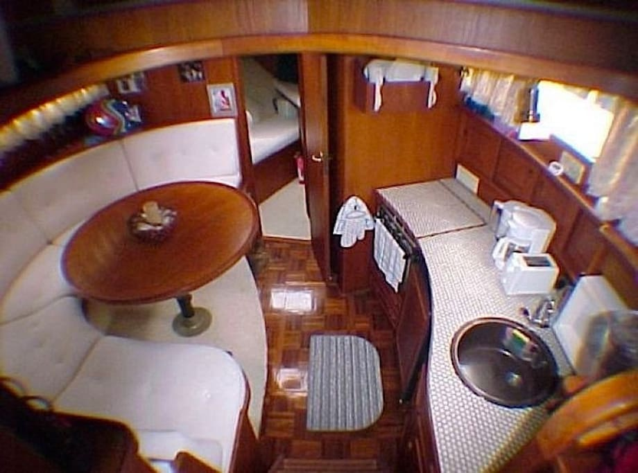 Mazu II has classy dinette and kitchen to entertain.