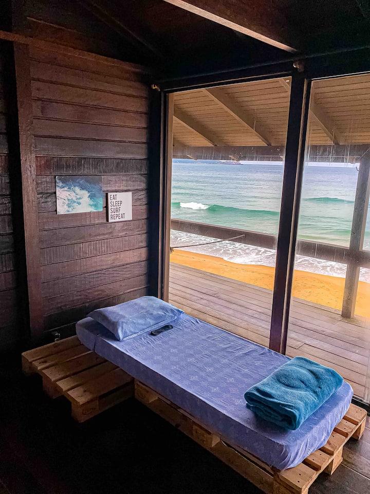 Cama em frente ao mar em Floripa (cama da FRENTE)