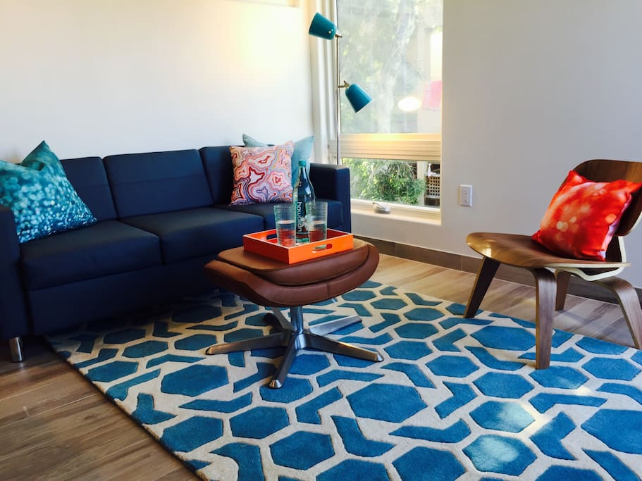 Living space;  Rug inspired by seafoam
