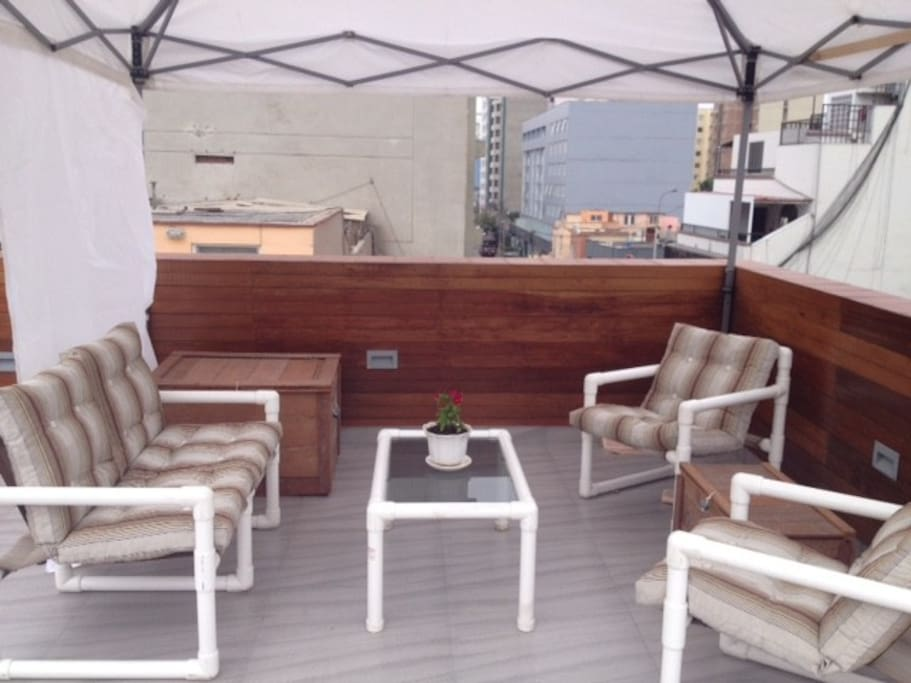 Roof Top  patio with a nice view of Miraflores
