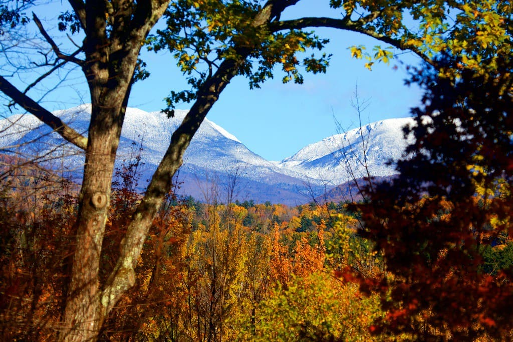 Spectacular view of early snow  from the back yard October 27 2018.
