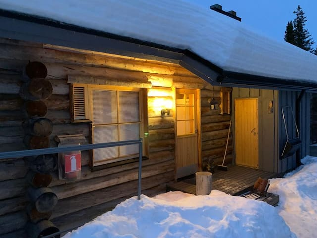 Cozy log apartment in the heart of Levi