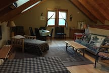 Spacious 24 x 28' loft-style room