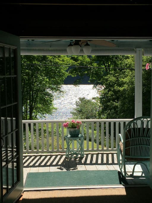 When the weather is fair and the temperatures warm, the front French doors can be left open throughout the day!  The warm breeze is delightful--
