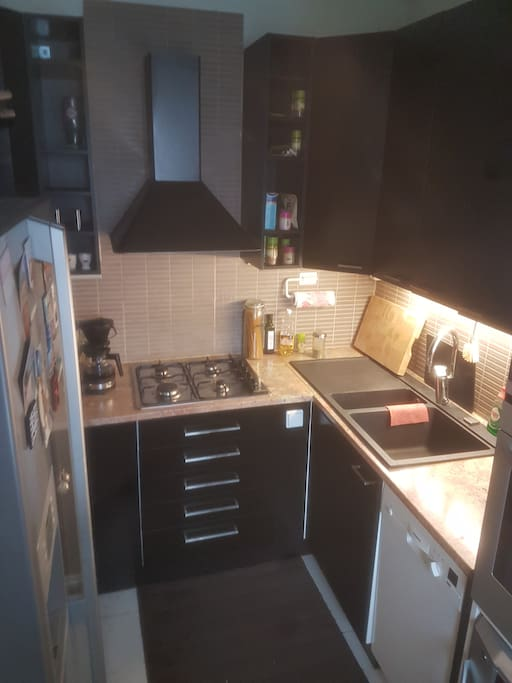 Kitchen with gas oven