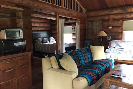 Log Cabin near Friday Harbor on Tigercello Farm