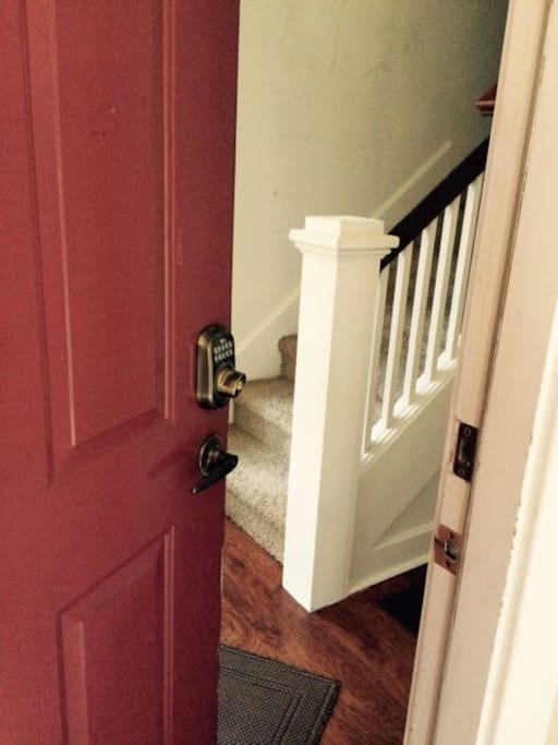 Numeric lock to make entry convenient.