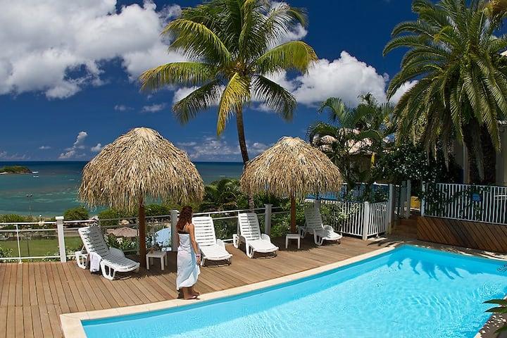 Villa marine vue mer 6 personnes, plage 150m, 3 ch