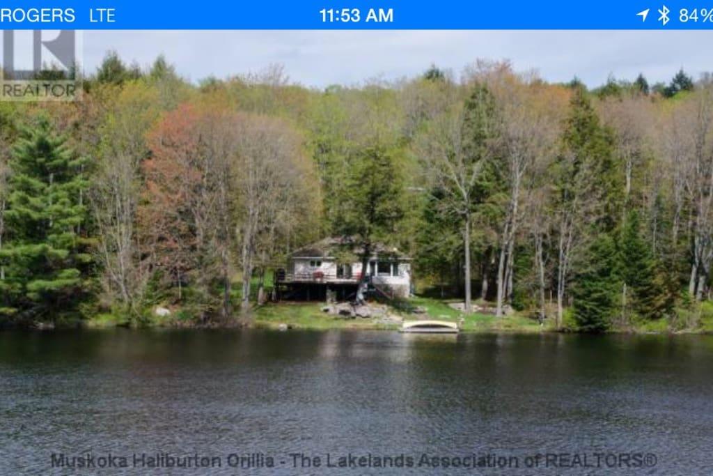 Calm private lake
