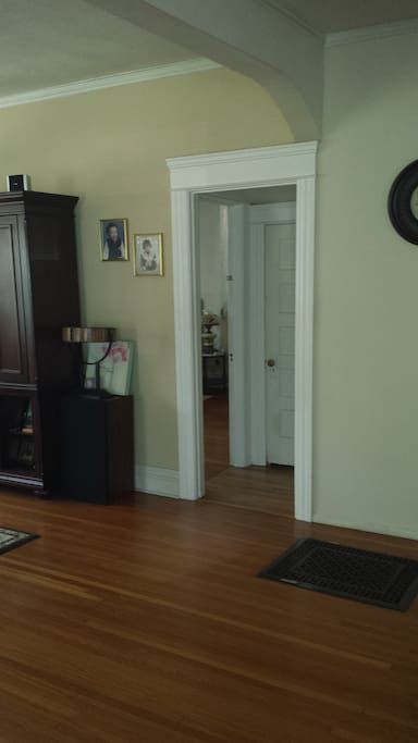 Room is in the first floor next to the living room