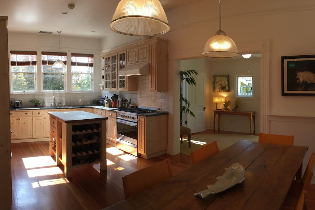 Fully Stocked Kitchen with Dining Table for 8