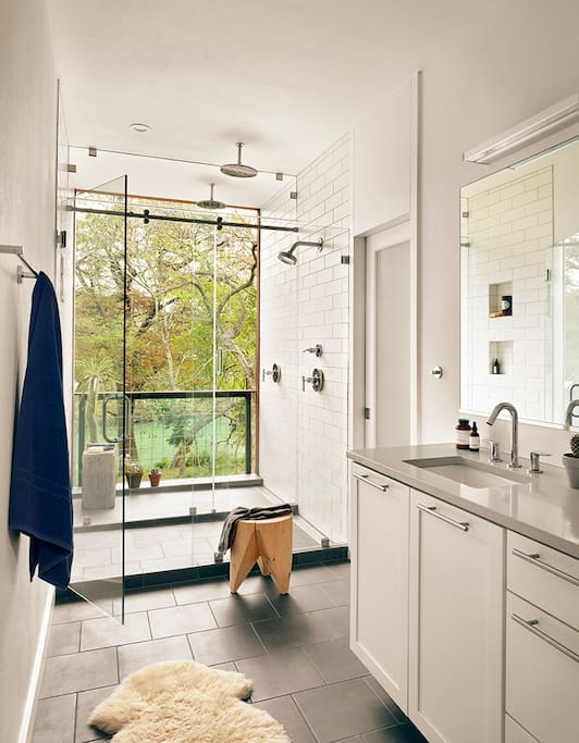 Master Bathroom with Outdoor Shower