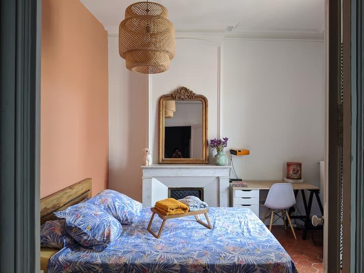 Grande chambre cosy ⭐ La Maison Chat l'Heureuse ⭐