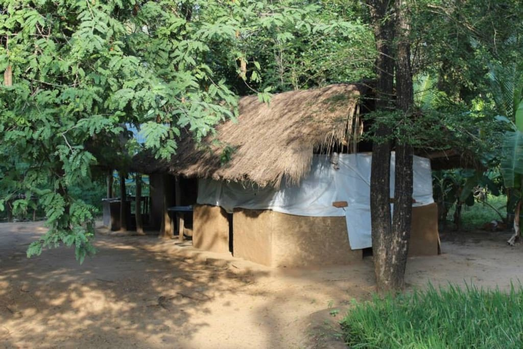 Kitchen area, which is made according to Village architecture.
