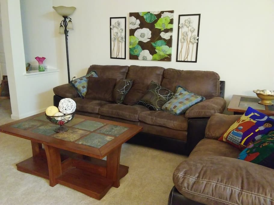 COMFY SOFA AND LOVE SEAT