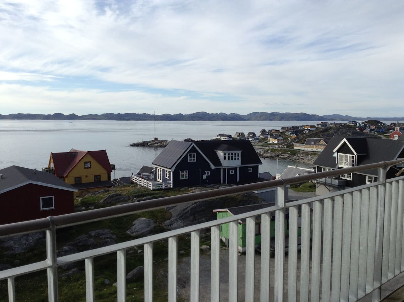 View of the fjord from the balcony
