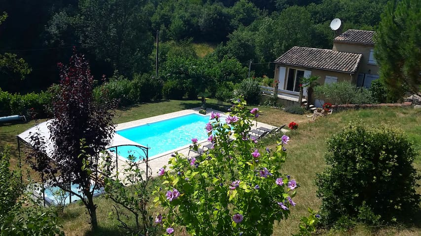 Villa with private pool & jacuzzi - Toulaud - Vila