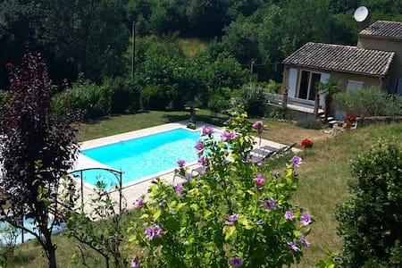 Villa with private pool & jacuzzi - Toulaud