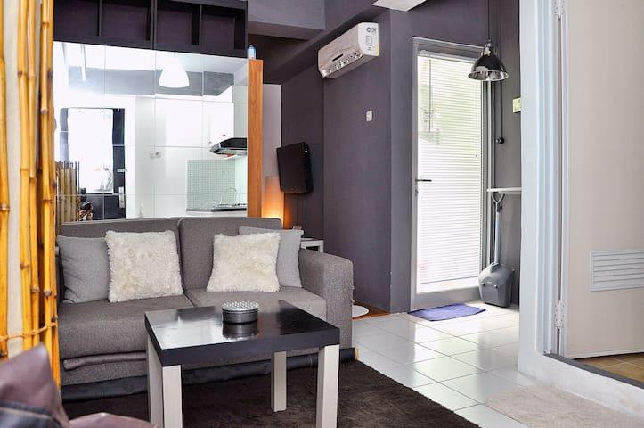 Cozy minimalist studio apartment