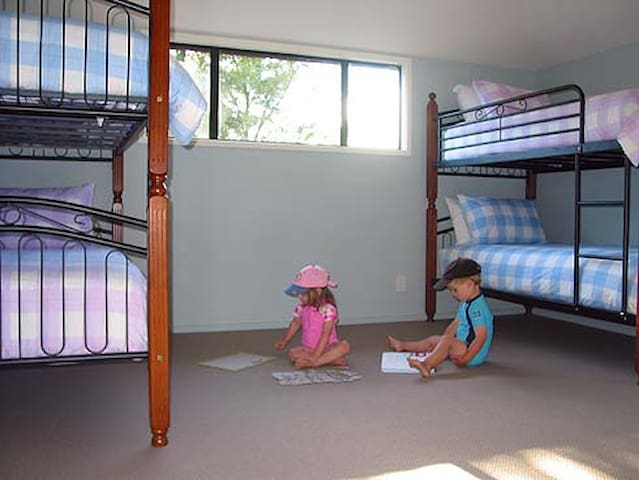 Bunk-room - sleeps 4 (good quality mattresses; beds can also take adults)