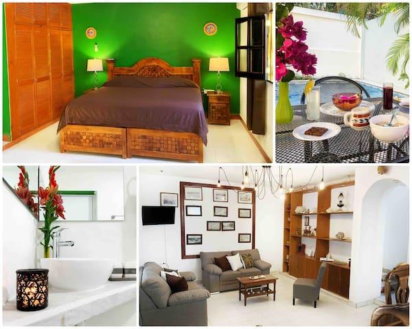 Espaciosa habitación en el centro | KingSizes |A/C
