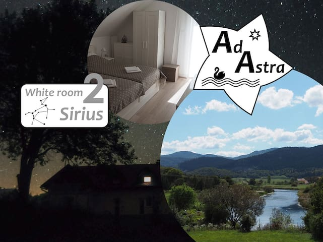 White room Sirius @ Ad Astra House by river Gacka
