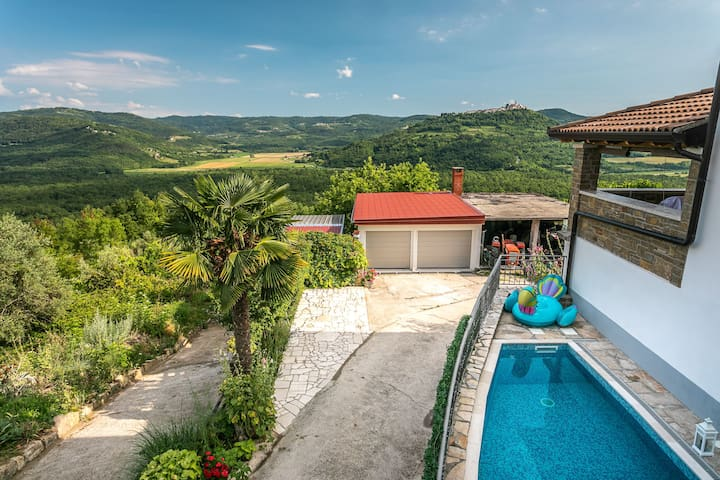 Vacation Home - Private Heated Pool, Motovun view
