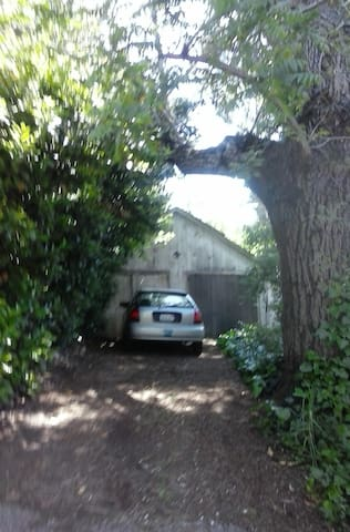 Your own driveway ~ off the street!!  Just for you!  Located just up the hill from the house.