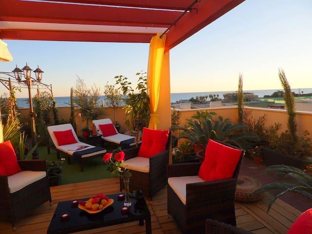 Traum-Penthouse, großes Sonnendeck mit Meerblick - Vélez-Málaga - Appartement