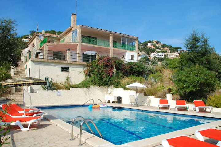 Fantastic view from this lovely holiday home near Lloret de Mar
